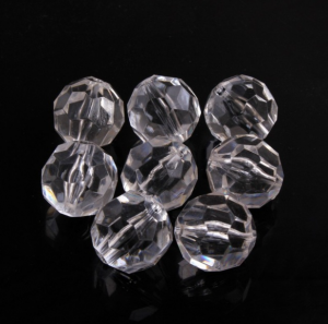 Transparent Acrylic Beads - White