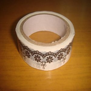 Black & White Tape With Flower