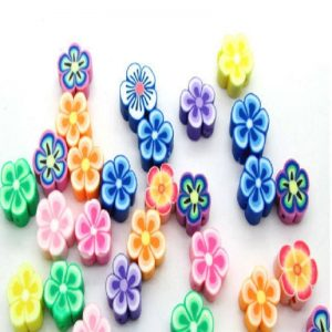 Polymer Clay Flowers Beads
