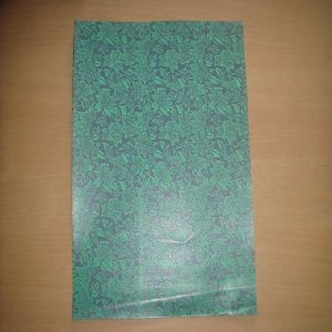 Green Floral Jacquard Pattern Paper