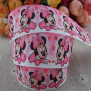 Grosgrain Printed Ribbon Minnie Theme