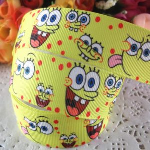 Grosgrain Printed Ribbon Sponge Bob Theme