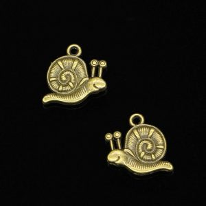 Antique Bronze Snail Charm
