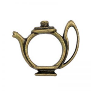 Vintage Antique Bronze Hollow Tea Pot Charm