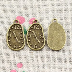 Vintage Antique Bronze Clock Charm