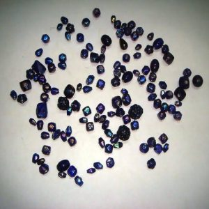 Plain Mixed Luster Glass Beads Indigo