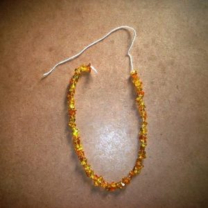 Glass Uncut Beads - Amber