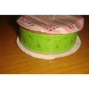 Lace Tape Green With Butterfly