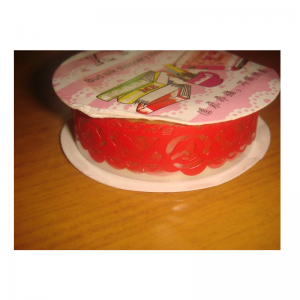 Lace Tape Red With Flower