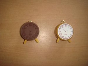 Vintage Style Small Clock Wooden Stamp