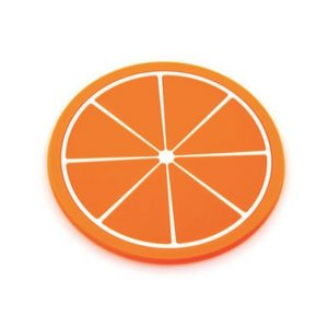 Fruit Theme Silicone Table Coaster - Orange