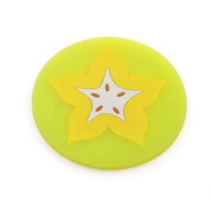 Fruit Theme Silicone Table Coaster - Carambola or Star Fruit