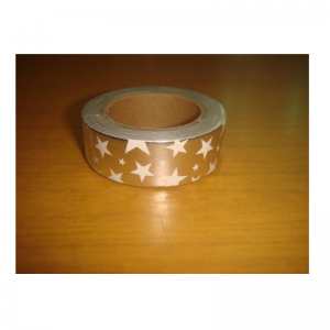 Shiny Tape Silver With White Star