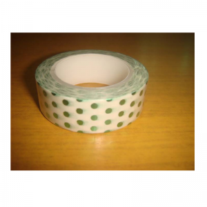 Shiny Tape Green With Polka Dot
