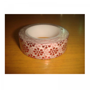 Shiny Tape Red With Flower