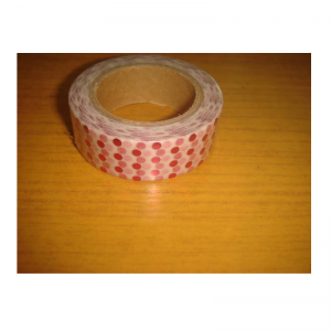 Shiny Tape With Pink Polka Dot
