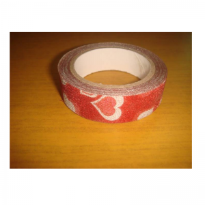 Glitter Tape Red With Heart