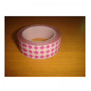 Glitter Tape Silver With Pink Colour Diamond
