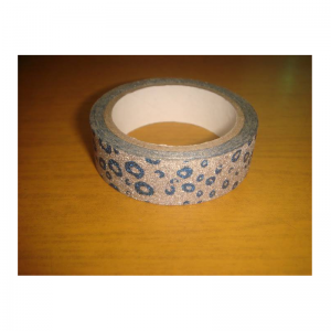 Glitter Tape Blue With Silver Square