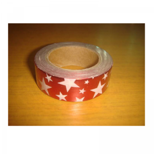 Shiny Tape Red Colour With White Star