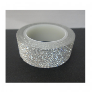 Craft Glitter Washi Tape Silver Grey