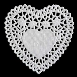 Heart White Paper Lace Doilies