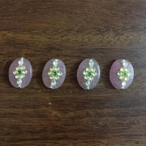 Light Pink Work Oval Beads