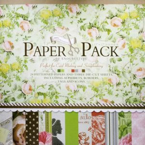 Eno Greeting Pink & Yellow Roses With Greenish Background Design Paper Pack