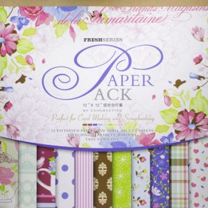 Eno Greeting Fresh Series Blue & Pink Pattern Design Paper Pack