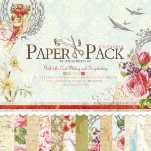 Eno Greeting Angel With Flowers Paper Pack
