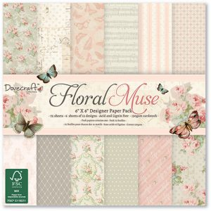 Eno Greeting Floral Muse With Butterfly Paper Pack