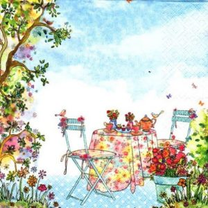 Garden Tea Party Decoupage Napkin