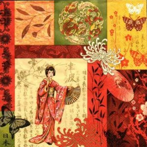 Japanese Theme Decoupage Napkin