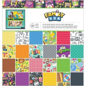 American Crafts Imaginisce Family Fun Paper Pack