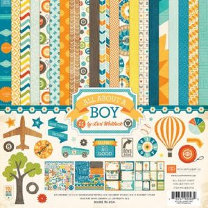 Echo Park All About A Boy Paper Pack