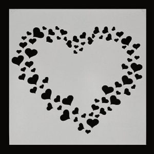 Heart Shape Stencils