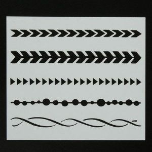 Stripes Shape Stencils