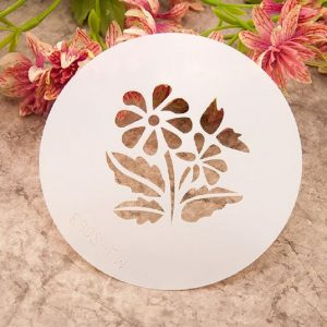 Eight Petal Flower Shape Stencil