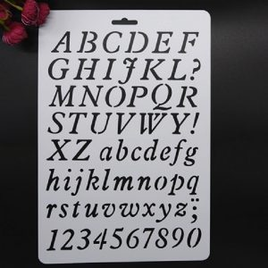 Alphabets & Numbers Stencil