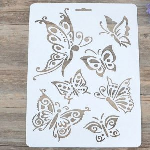 Mixed Shape Butterfly Stencil