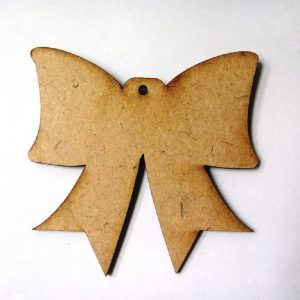 Christmas Bow MDF Cutout
