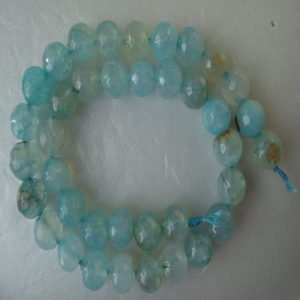 Pale Blue Agate Beads