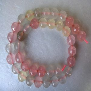 Baby Pink With Water Colour Agate Beads