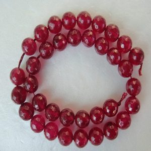 Maroon Agate Beads
