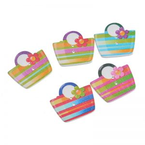 Multi-color Shopping Bag Button