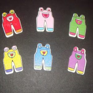 Dungarees Pattern Button