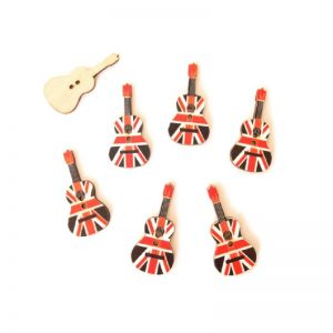 Union Jack Guitar Button