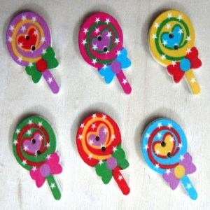 Swirl Lollipop Buttons
