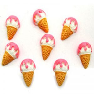 Pink Cone Ice Cream Resin Embellishment
