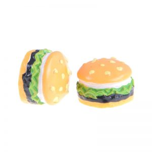 Miniature Hamburger Resin Embellishment